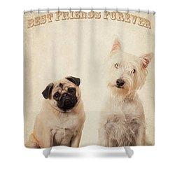 Best Friends Forever Shower Curtain by Edward Fielding