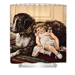 Best Friends Shower Curtain by Richard De Wolfe