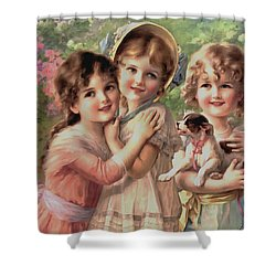 Best Of Friends Shower Curtain by Emile Vernon