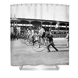 Bicycle Race, 1890 Shower Curtain by Granger