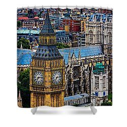 Big Ben And Westminster Abbey Shower Curtain by Chris Lord