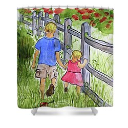 Big Brother Shower Curtain by Arlene  Wright-Correll