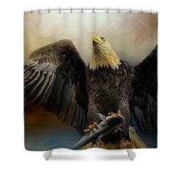 Big Catch Shower Curtain by Jai Johnson