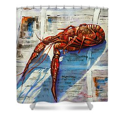 Big Red Shower Curtain by Dianne Parks