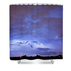 Big Sky With Small Lightning Strikes In The Distance Shower Curtain by James BO  Insogna