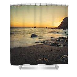 Big Sur Beach Shower Curtain by Lynn Andrews