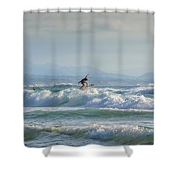 Shower Curtain featuring the photograph Big Surf Invitational I by Thierry Bouriat