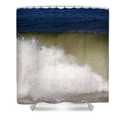 Big Waves Shower Curtain by Susanne Van Hulst