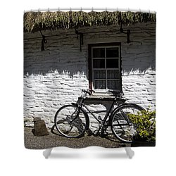 Bike At The Window County Clare Ireland Shower Curtain by Teresa Mucha