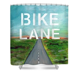 Bike Lane- Art By Linda Woods Shower Curtain by Linda Woods