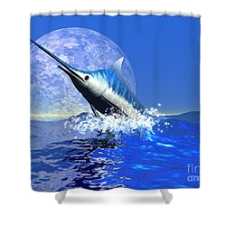 Billfish  Shower Curtain by Corey Ford