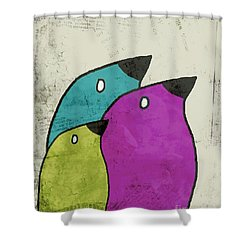 Birdies - V06c Shower Curtain by Variance Collections