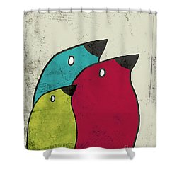 Birdies - V101s1t Shower Curtain by Variance Collections