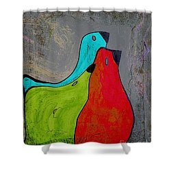 Birdies - V110b Shower Curtain by Variance Collections