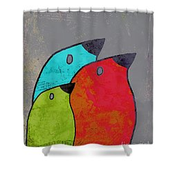 Birdies - V11b Shower Curtain by Variance Collections
