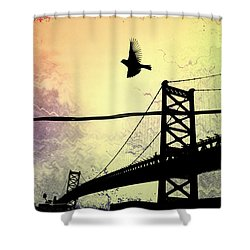 Birds Eye View Shower Curtain by Bill Cannon