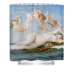 Birth Of Venus Shower Curtain by Alexandre Cabanel