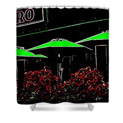 Bistro Shower Curtain by Will Borden