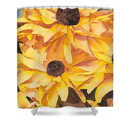 Black Eyed Susans Shower Curtain by Ken Powers