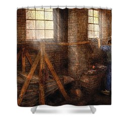 Blacksmith - It's Getting Hot In Here Shower Curtain by Mike Savad