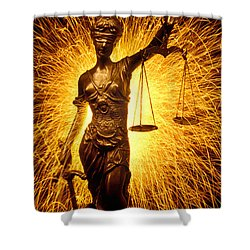 Blind Justice  Shower Curtain by Garry Gay