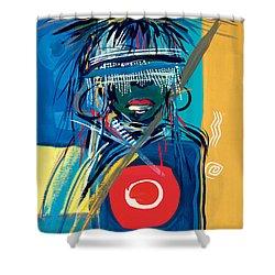 Blind To Culture Shower Curtain by Oglafa Ebitari Perrin