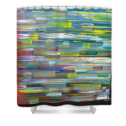 Blindsided Shower Curtain by Jacqueline Athmann