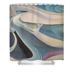Blue Shower Curtain by Bernie Bishop