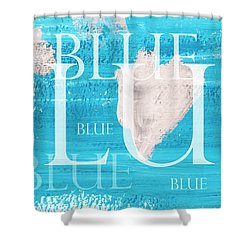 Shower Curtain featuring the painting Blue by Frank Tschakert