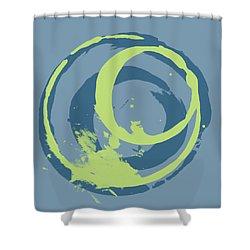 Blue Green 2 Shower Curtain by Julie Niemela