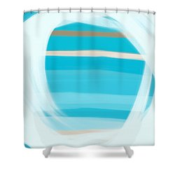 Shower Curtain featuring the painting Blue Lagoon by Frank Tschakert
