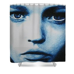 Blue Shower Curtain by Lynet McDonald