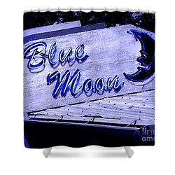 Blue Moon Shower Curtain by Perry Webster