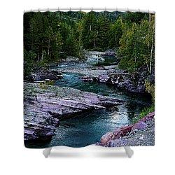 Blue River Shower Curtain by Joseph Noonan