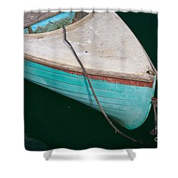 Blue Rowboat 1 Shower Curtain by Susan Cole Kelly