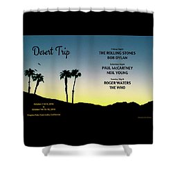 Blue Sky Sunset From A Desert Trip Shower Curtain by Desiderata Gallery