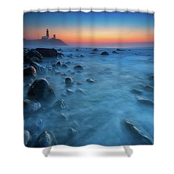 Blue Tide Shower Curtain by Rick Berk