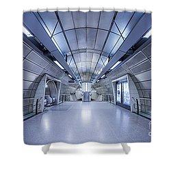Blue Tomorrow Shower Curtain by Evelina Kremsdorf