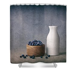 Blueberries And Cream Shower Curtain by Tom Mc Nemar