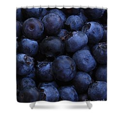 Blueberries Close-up - Vertical Shower Curtain by Carol Groenen