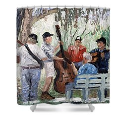 Bluegrass In The Park Shower Curtain by Anthony Falbo