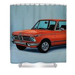 Bmw 2002 1968 Painting Shower Curtain by Paul Meijering