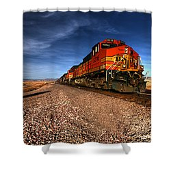 Bnsf Freight  Shower Curtain by Rob Hawkins