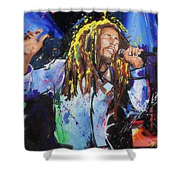 Bob Marley Shower Curtain by Richard Day