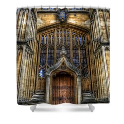Bodleian Library Door - Oxford Shower Curtain by Yhun Suarez