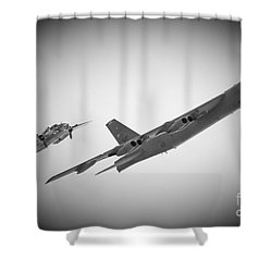 Bomber Pair Shower Curtain by Bob Mintie