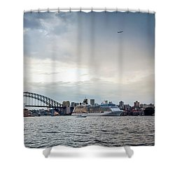 Bon Voyage Shower Curtain by Az Jackson
