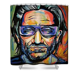 Bono Shower Curtain by Amy Belonio