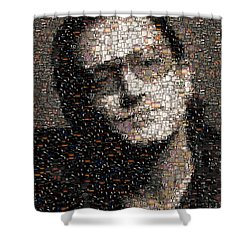 Bono U2 Albums Mosaic Shower Curtain by Paul Van Scott