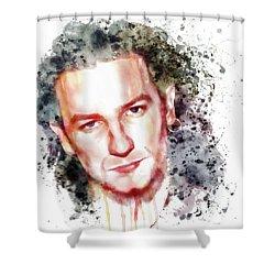 Bono Vox Shower Curtain by Marian Voicu
